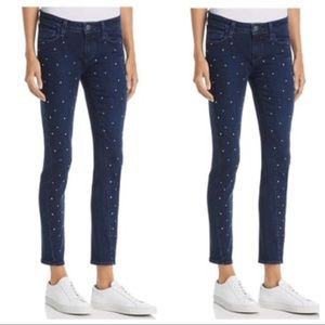 Paige Verdugo Embellished Mid-Rise Skinny Jeans